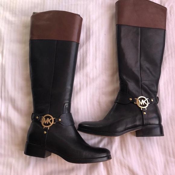 Michael Kors Black Leather Boots | Poshmark